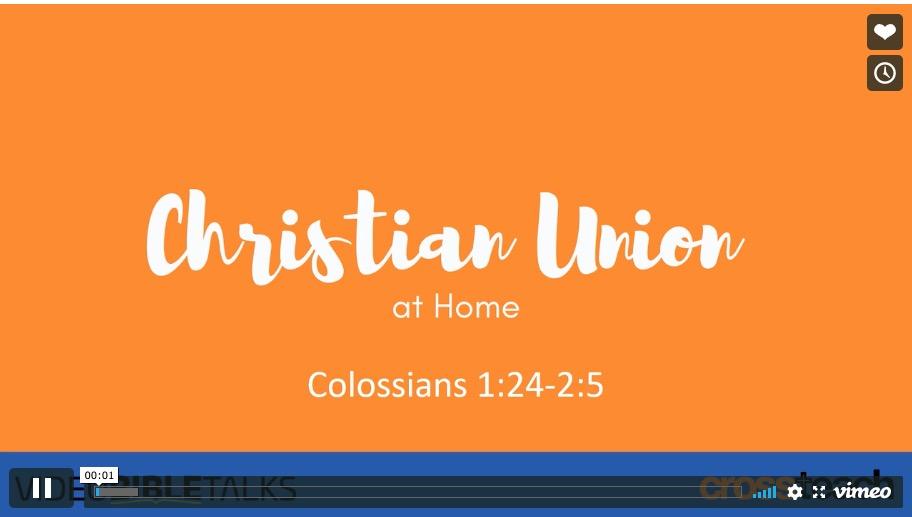 CU at Home 3 – Colossians 1:24-2:5